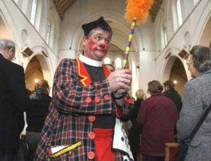 POWWOW - clown in church
