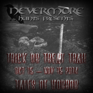 Nevermore Trick Or Treat Trail 2014 - Tales Of Horror Banner - A Quaint and Curious Tale